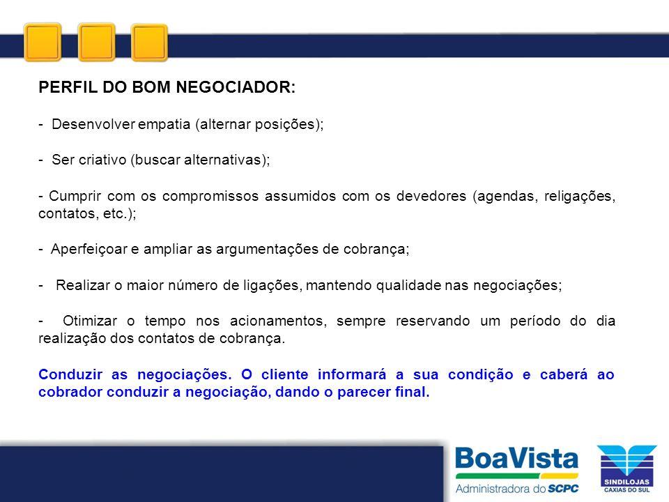 PERFIL DO BOM NEGOCIADOR: