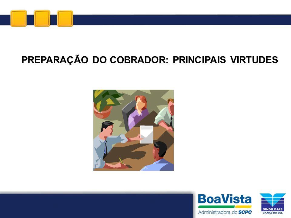 PREPARAÇÃO DO COBRADOR: PRINCIPAIS VIRTUDES