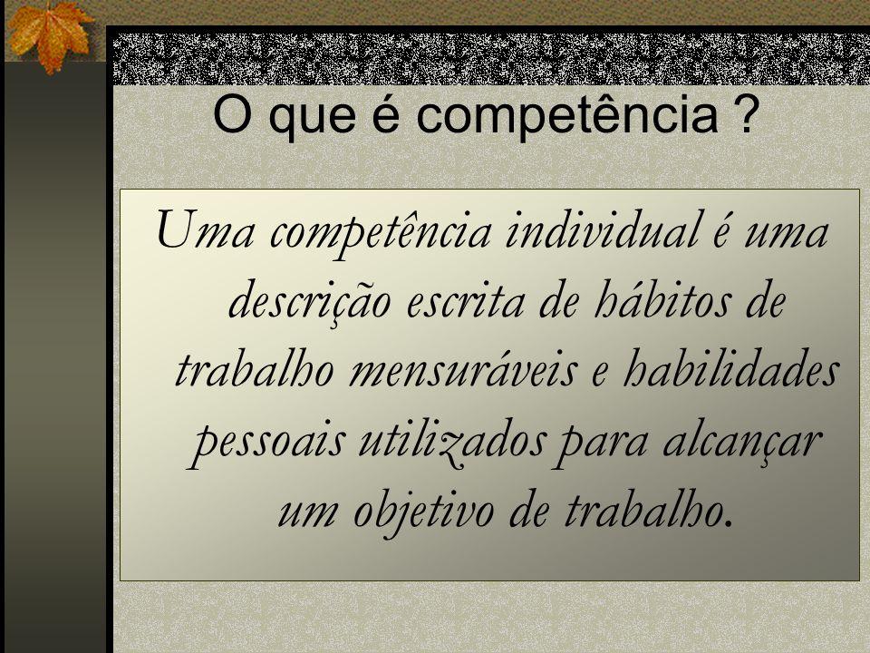 O que é competência