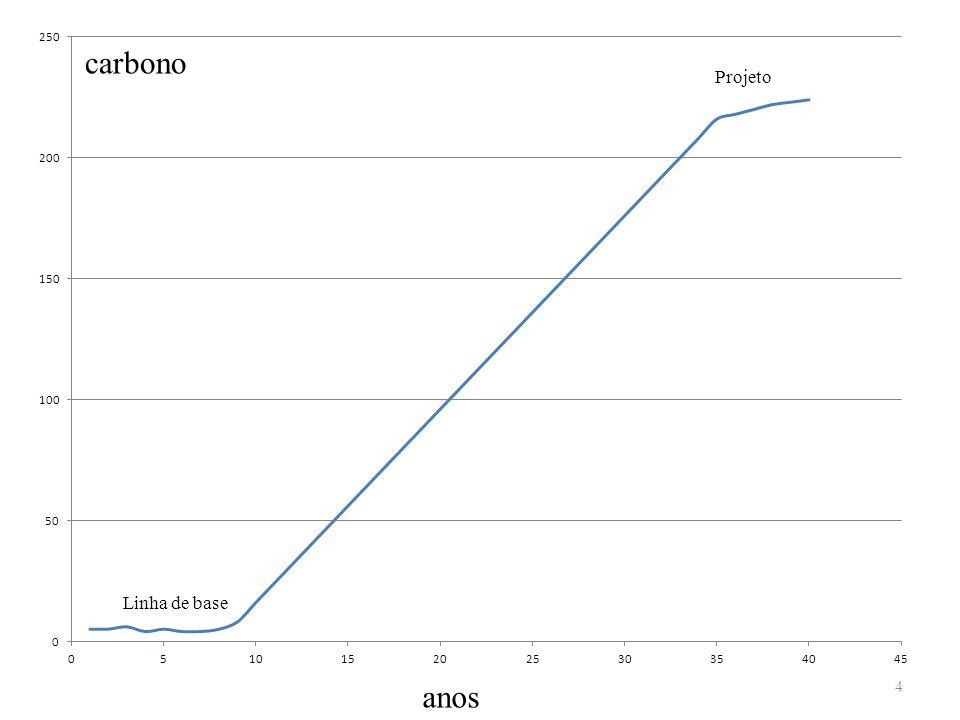 carbono Projeto Linha de base anos