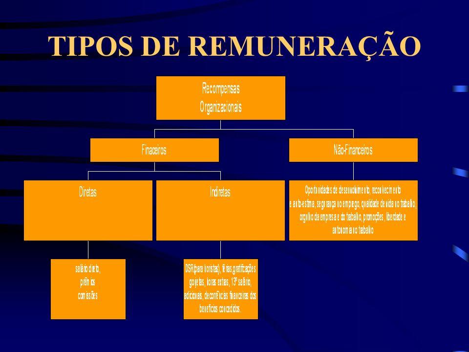 TIPOS DE REMUNERAÇÃO