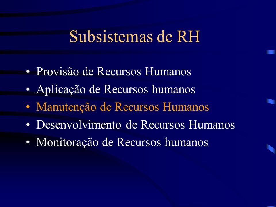 Subsistemas de RH Provisão de Recursos Humanos