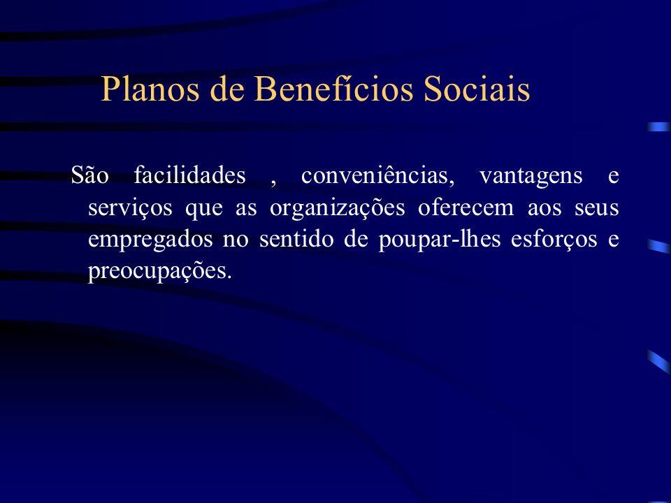 Planos de Benefícios Sociais