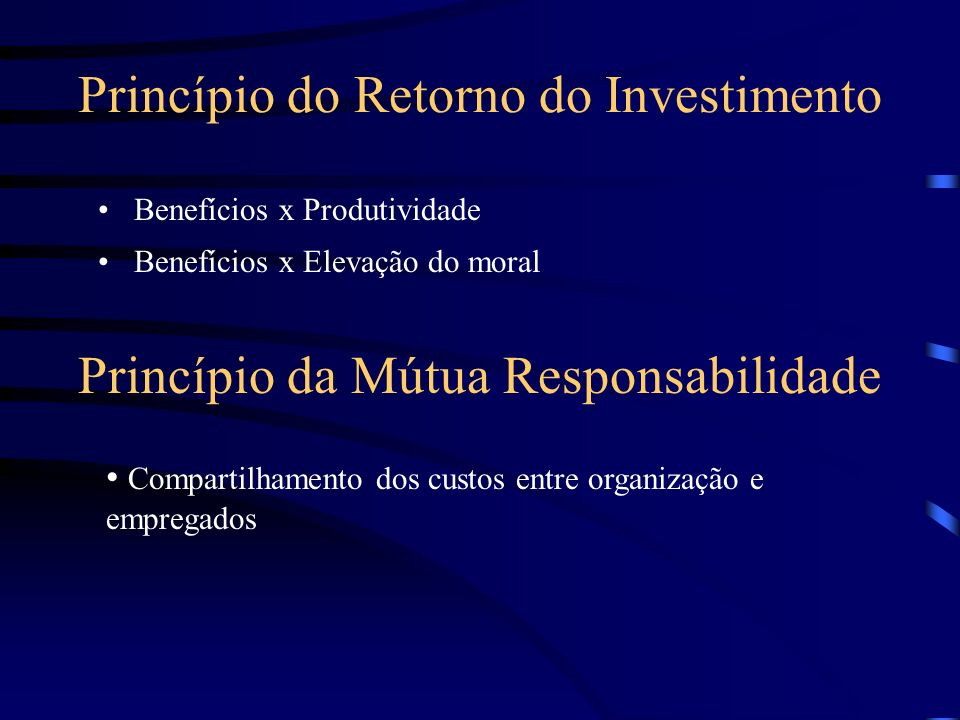Princípio do Retorno do Investimento