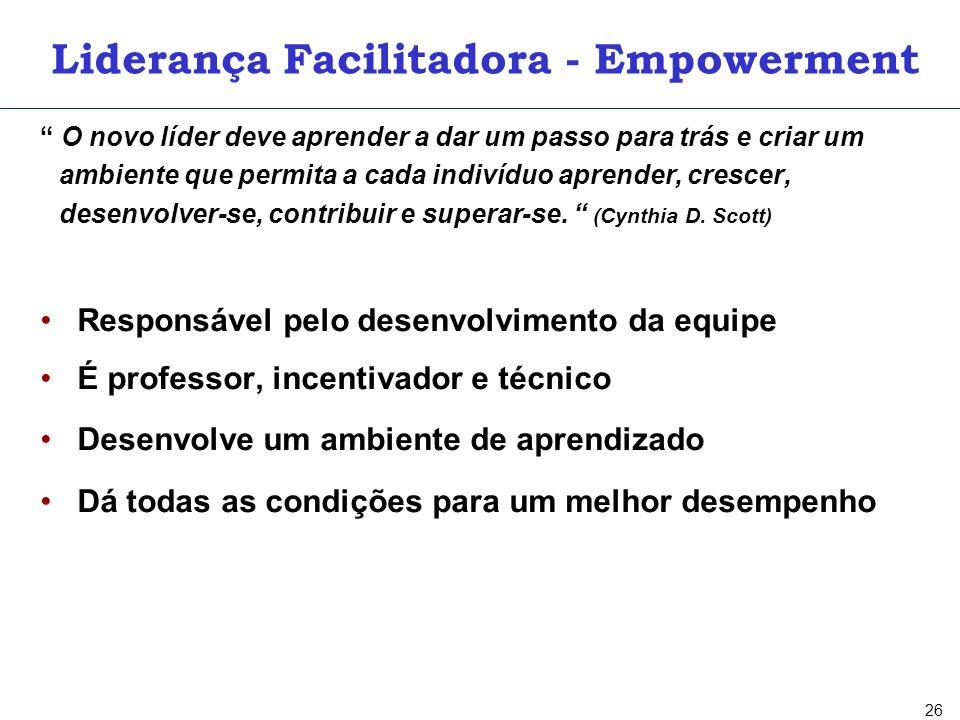 EMPOWERMENT 1. RESPONSABILIDADE 2. AUTORIDADE 3. PADRÕES DE EXCELÊNCIA