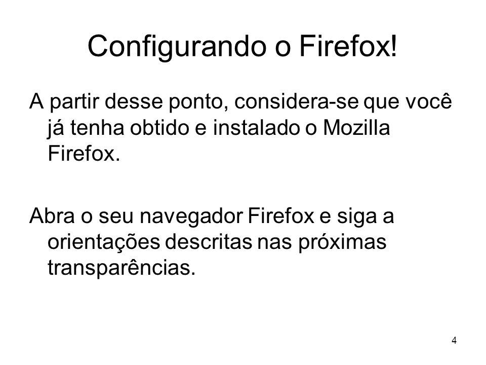 Configurando o Firefox!