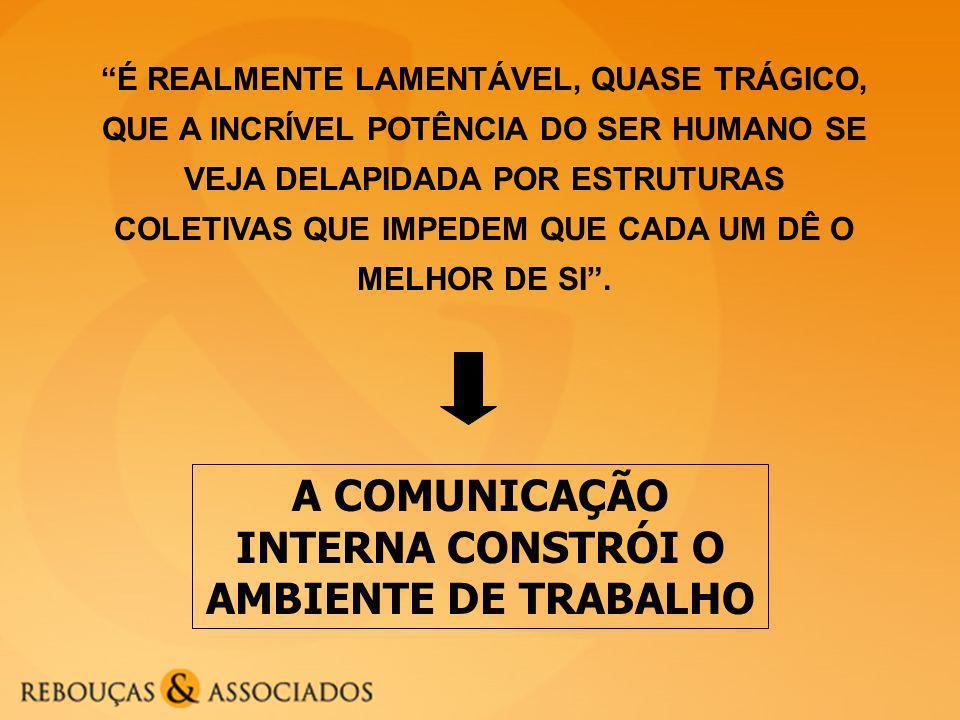 A COMUNICAÇÃO INTERNA CONSTRÓI O AMBIENTE DE TRABALHO