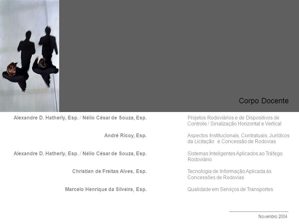Corpo Docente Alexandre D. Hatherly, Esp. / Nélio César de Souza, Esp.