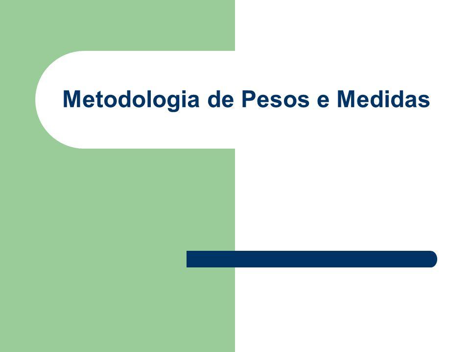 Metodologia de Pesos e Medidas