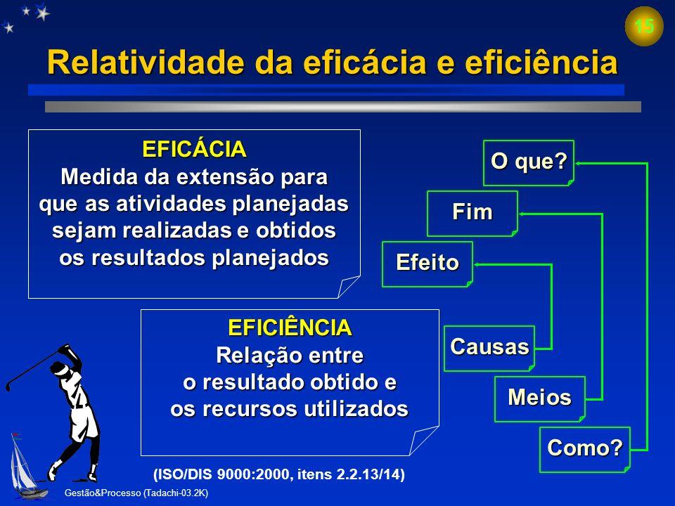 Relatividade da eficácia e eficiência