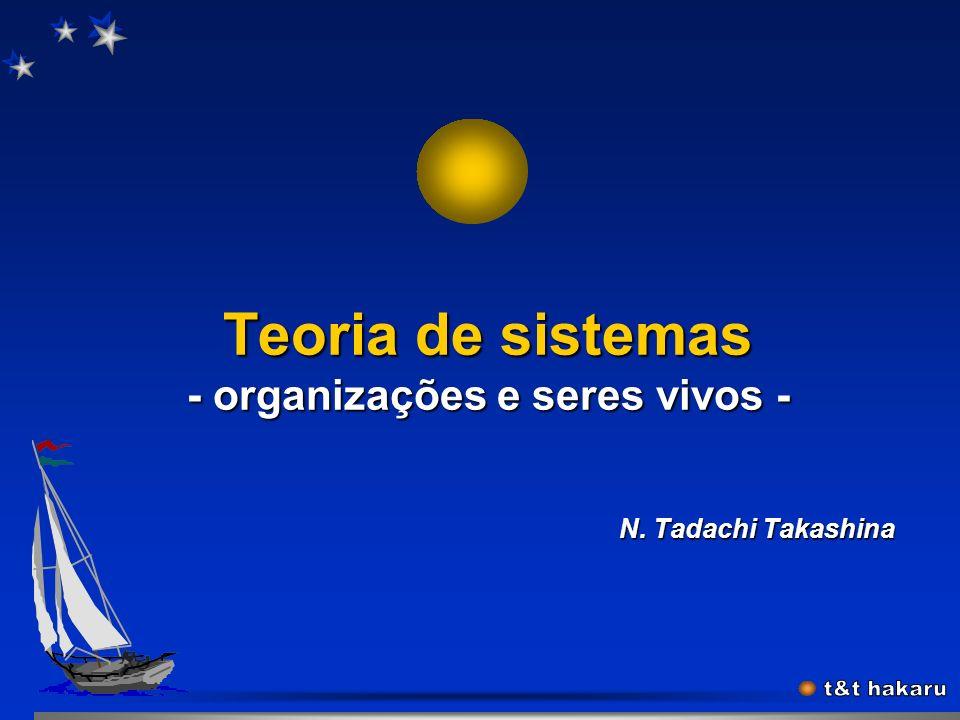 Teoria de sistemas - organizações e seres vivos -