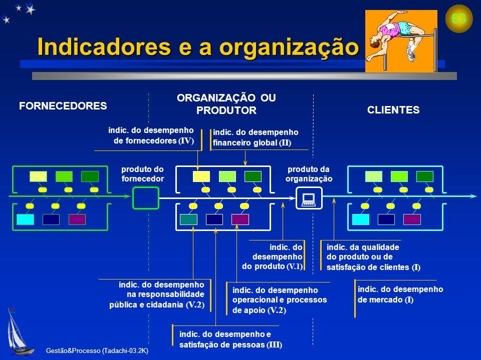 Indicadores e a organização