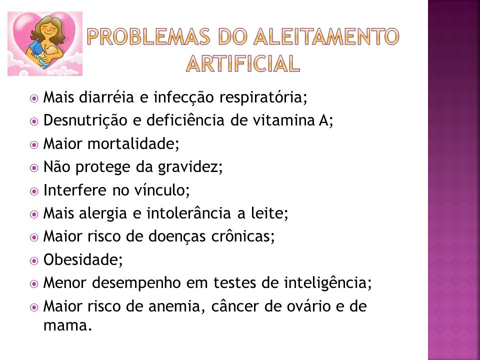 Problemas do aleitamento artificial