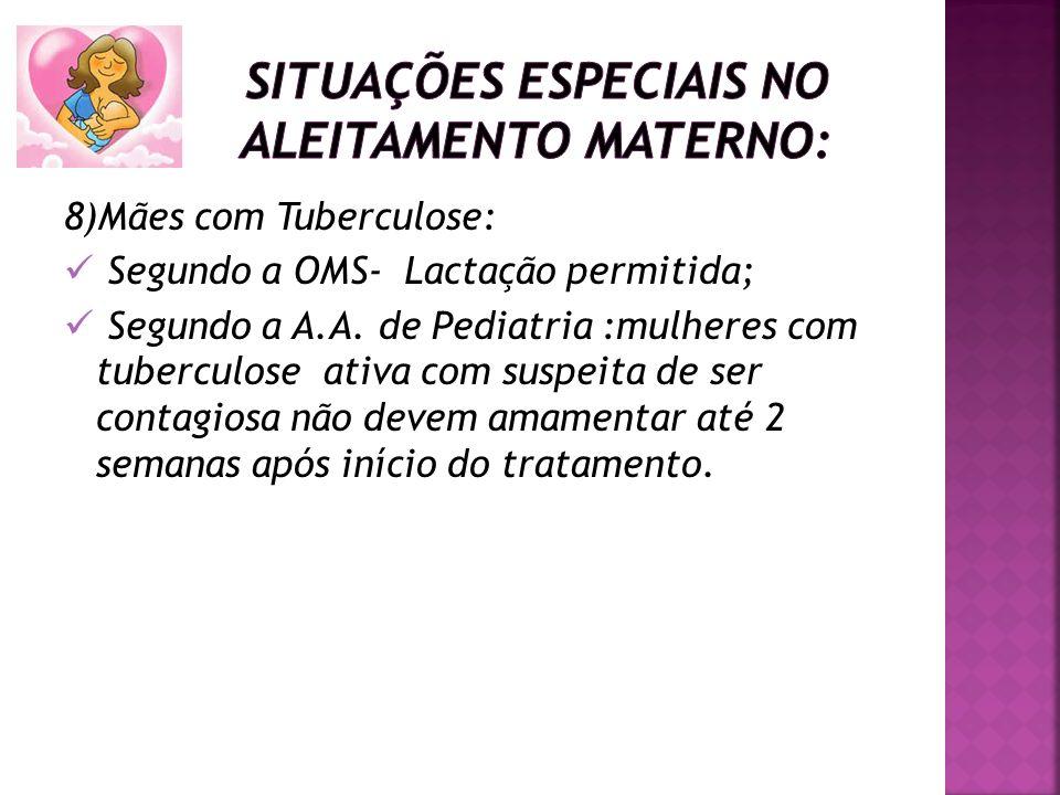 Situações especiais no aleitamento materno: