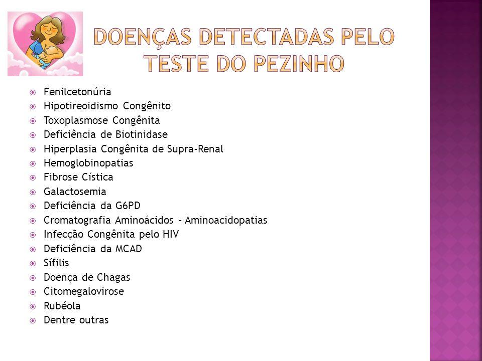 Doenças detectadas pelo teste do pezinho