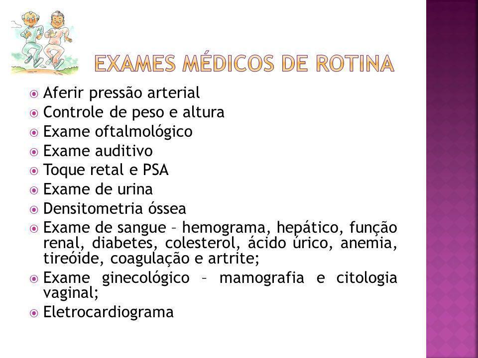 Exames médicos de rotina