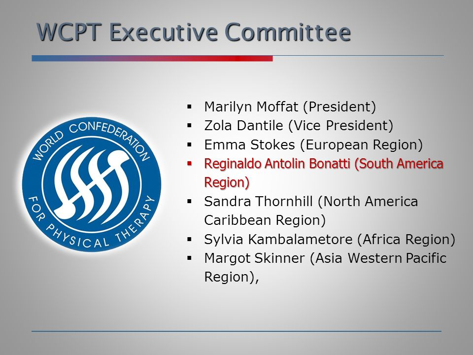 WCPT Executive Committee