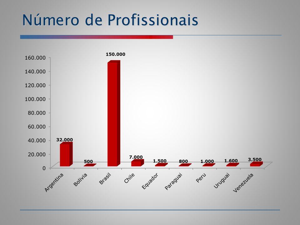 Número de Profissionais