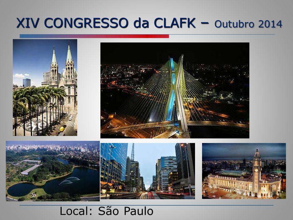 XIV CONGRESSO da CLAFK – Outubro 2014