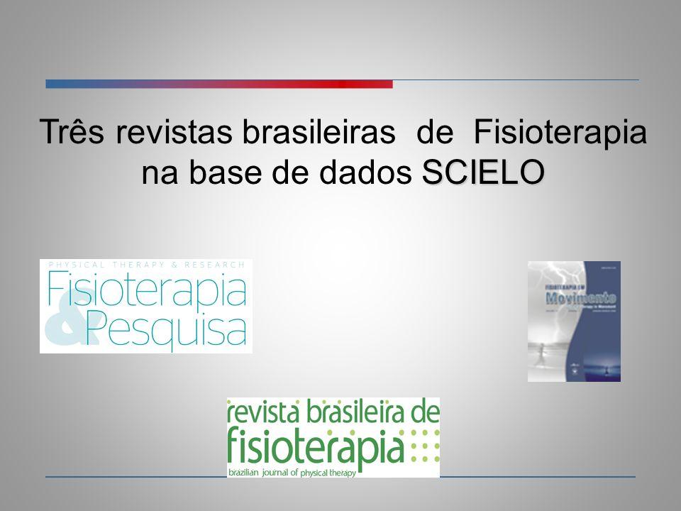 Três revistas brasileiras de Fisioterapia na base de dados SCIELO