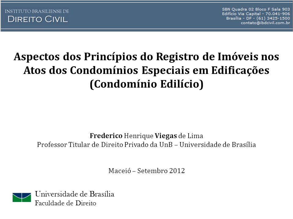Aspectos dos Princípios do Registro de Imóveis nos Atos dos Condomínios Especiais em Edificações (Condomínio Edilício)