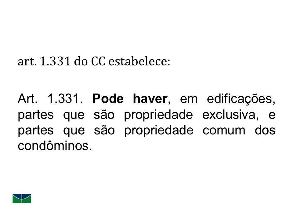 art. 1. 331 do CC estabelece: Art. 1. 331