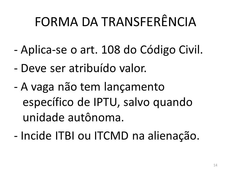 FORMA DA TRANSFERÊNCIA