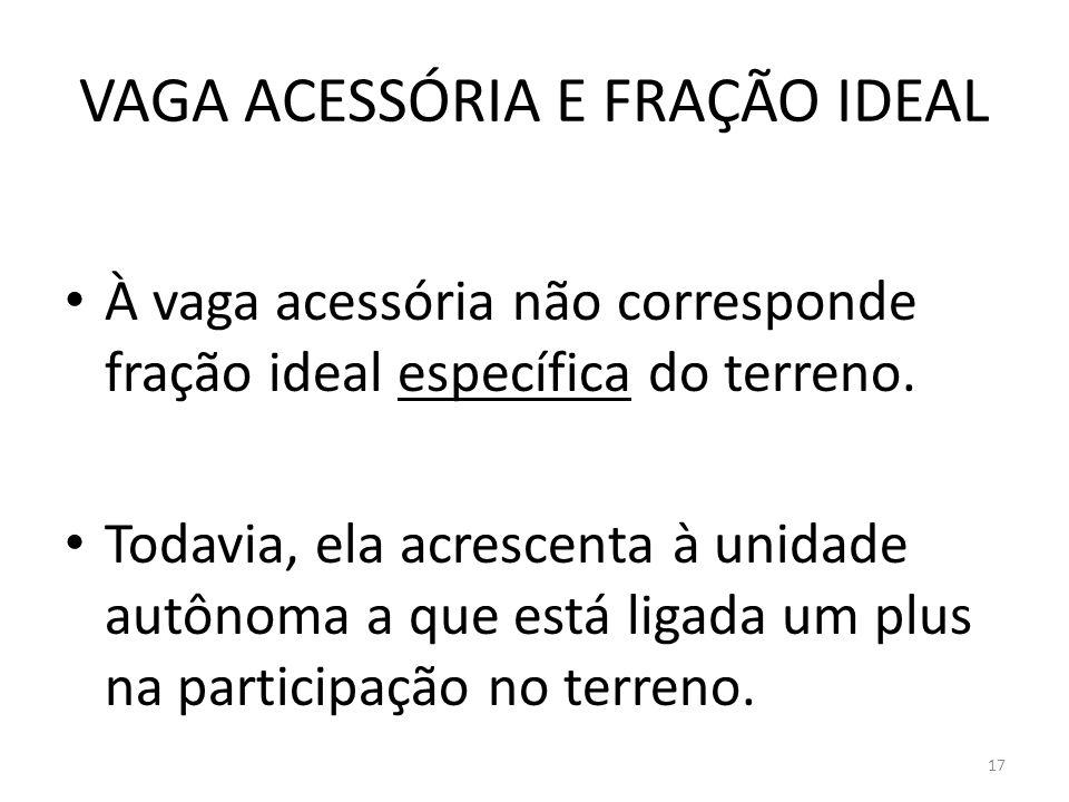 VAGA ACESSÓRIA E FRAÇÃO IDEAL