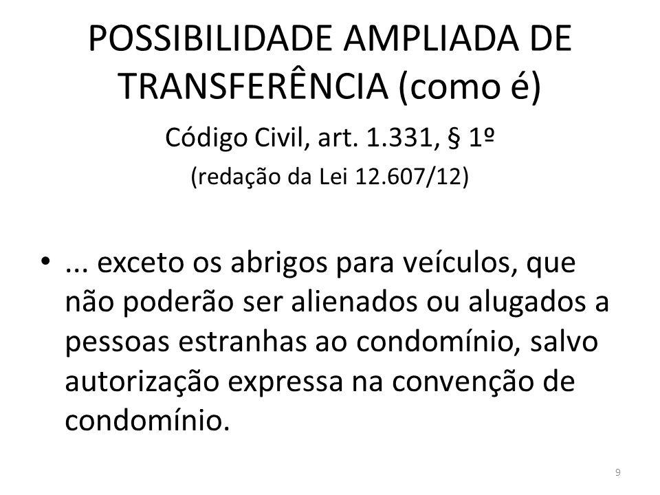 POSSIBILIDADE AMPLIADA DE TRANSFERÊNCIA (como é)