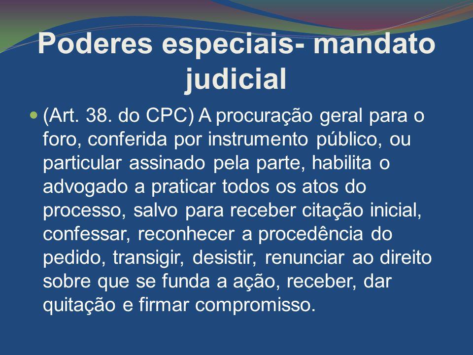 Poderes especiais- mandato judicial