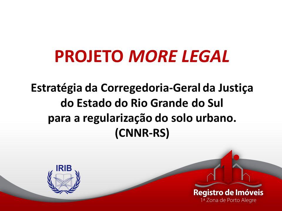 PROJETO MORE LEGAL Estratégia da Corregedoria-Geral da Justiça