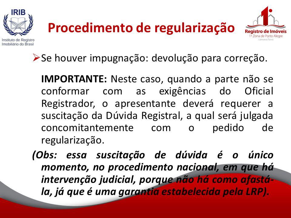 Procedimento de regularização