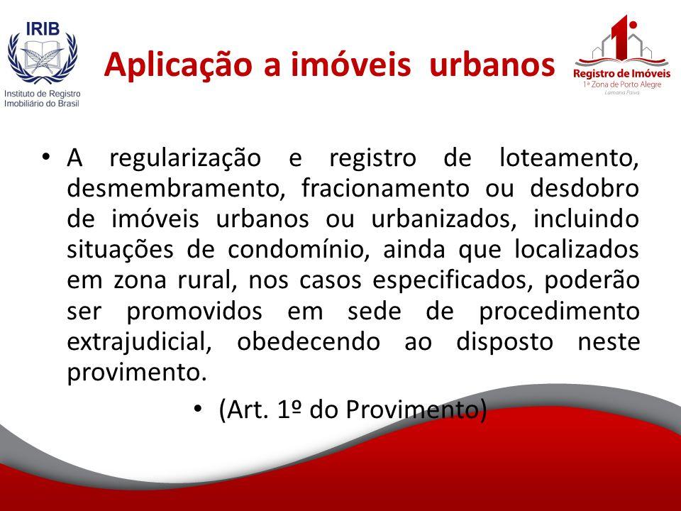 Aplicação a imóveis urbanos