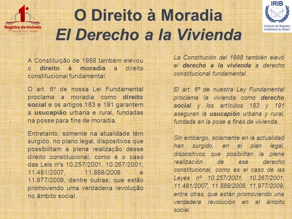 O Direito à Moradia El Derecho a la Vivienda