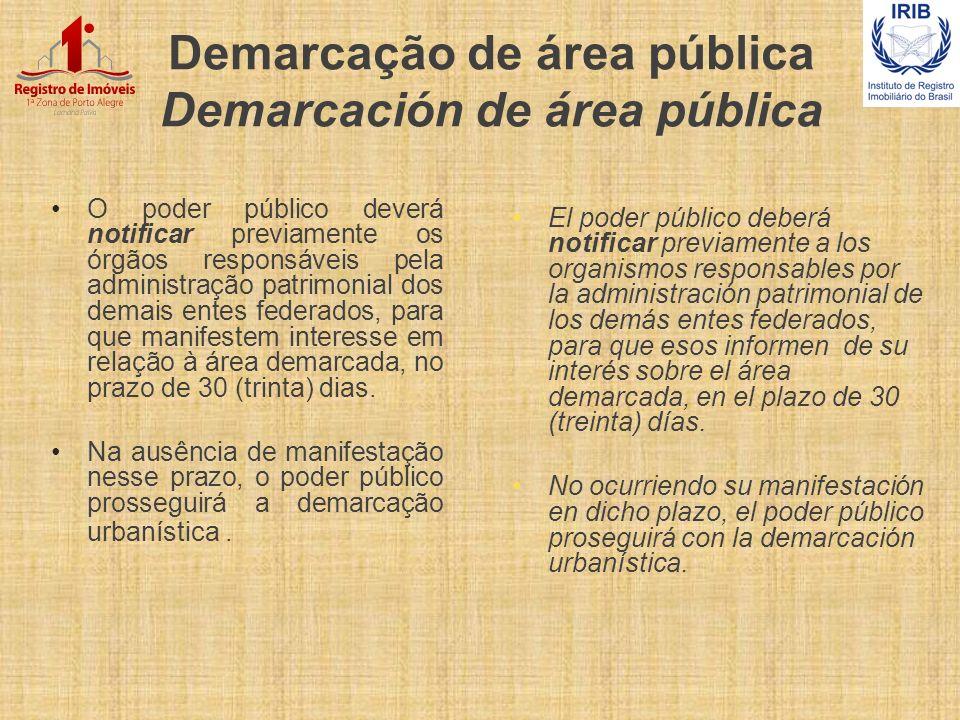 Demarcação de área pública Demarcación de área pública