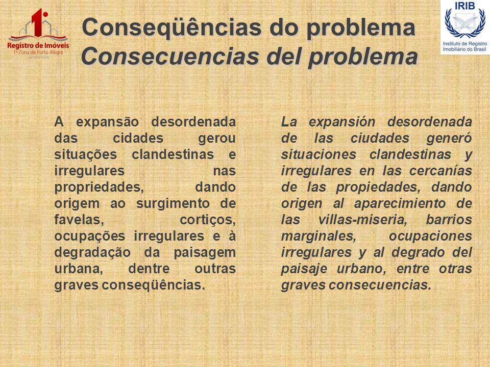 Conseqüências do problema Consecuencias del problema