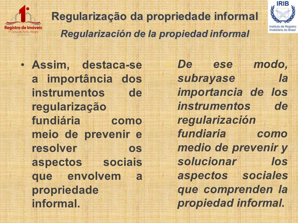 Regularização da propriedade informal Regularización de la propiedad informal