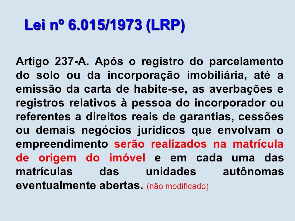 Lei nº 6.015/1973 (LRP)