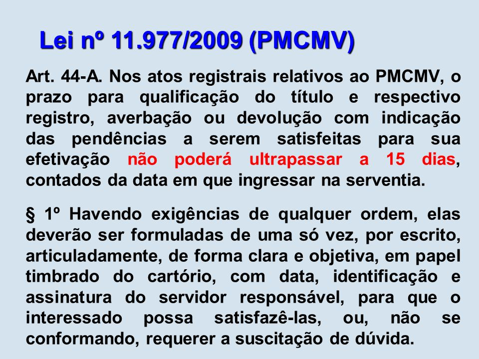 Lei nº 11.977/2009 (PMCMV)