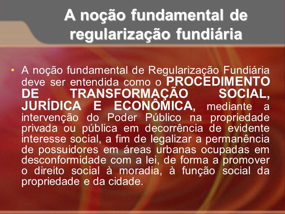 A noção fundamental de regularização fundiária