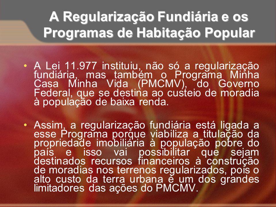 A Regularização Fundiária e os Programas de Habitação Popular