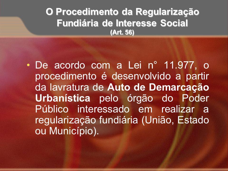 O Procedimento da Regularização Fundiária de Interesse Social (Art. 56)