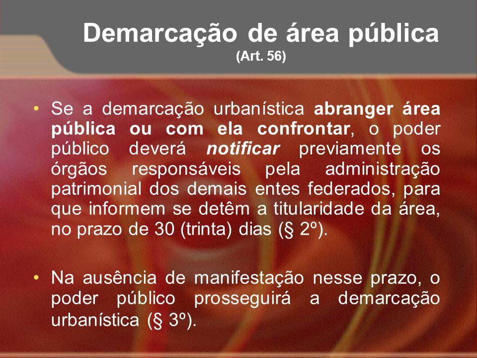Demarcação de área pública (Art. 56)