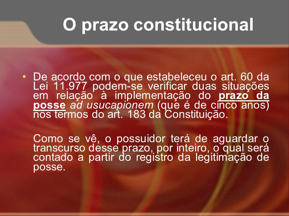 O prazo constitucional