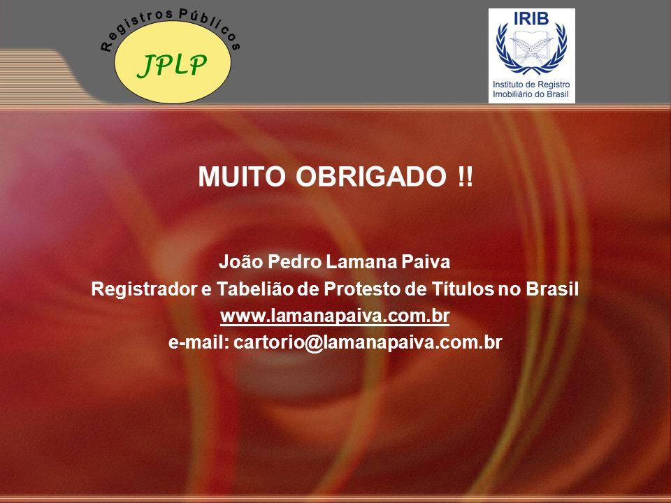 MUITO OBRIGADO !! JPLP João Pedro Lamana Paiva