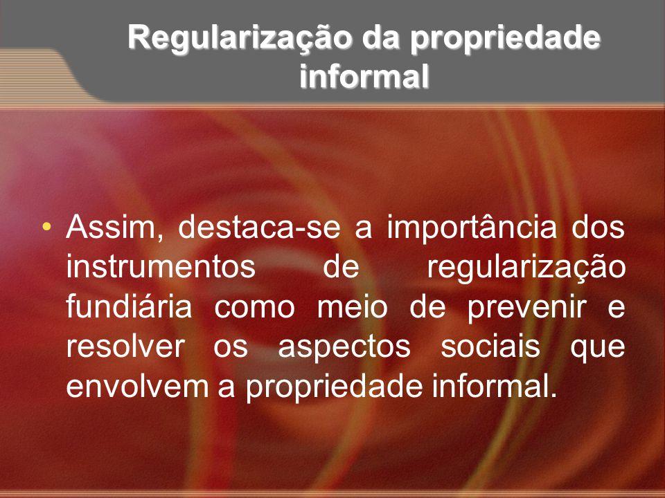 Regularização da propriedade informal