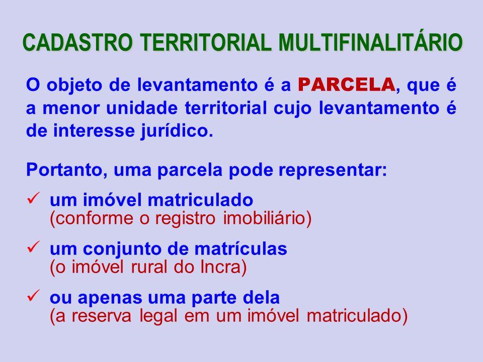 CADASTRO TERRITORIAL MULTIFINALITÁRIO