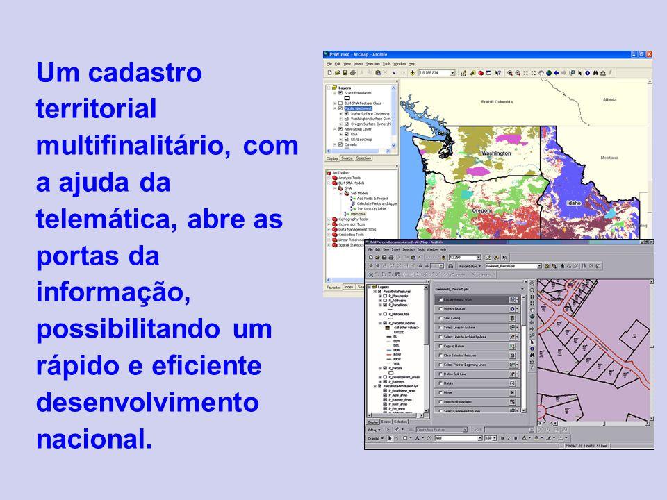 Um cadastro territorial multifinalitário, com a ajuda da telemática, abre as portas da informação, possibilitando um rápido e eficiente desenvolvimento nacional.