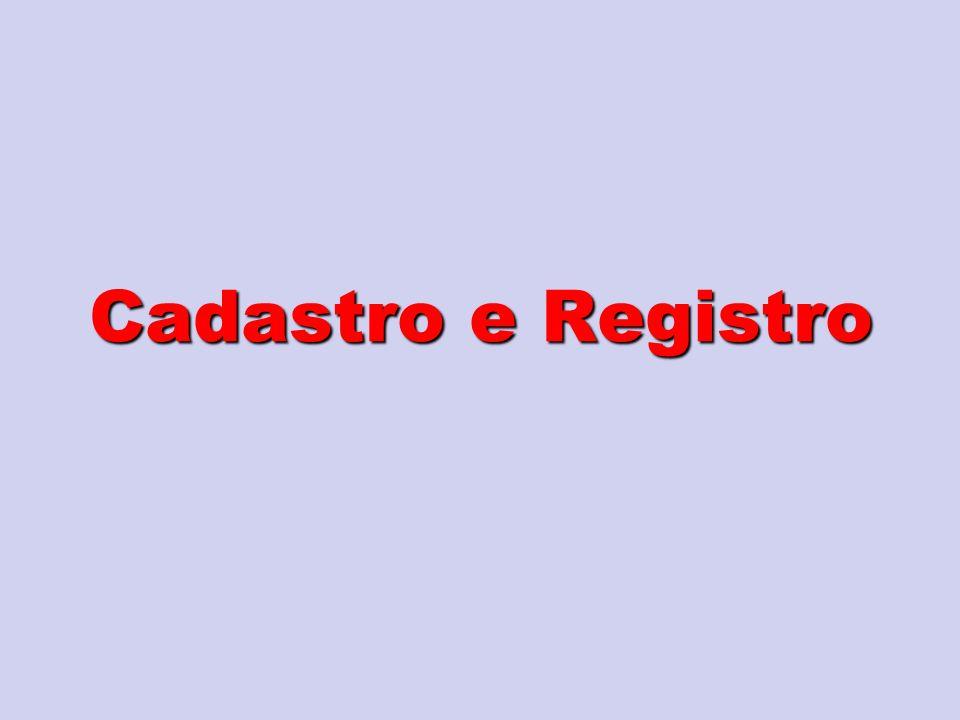 Cadastro e Registro