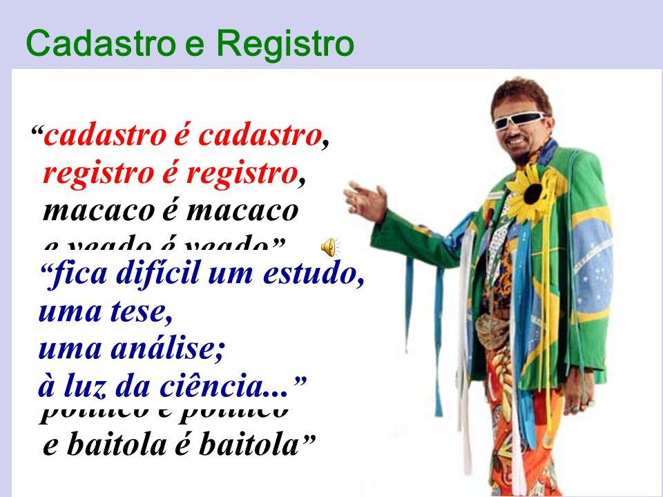 Cadastro e Registro irmãos siameses da regularização fundiária (SJ)
